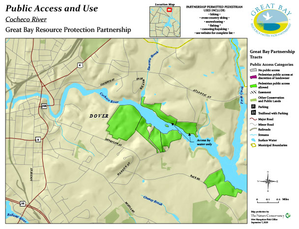 Cocheco property public access map