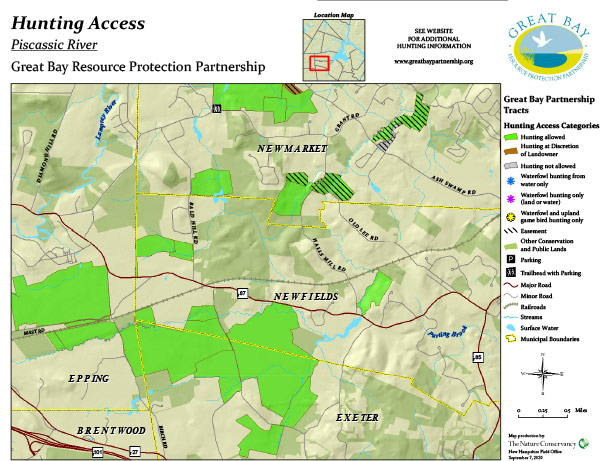 Piscassic property hunting access map