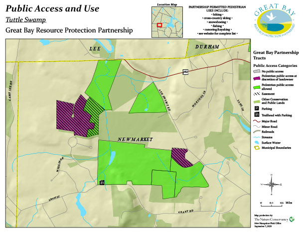 Tuttle property public access map